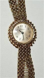 FINE GENEVA 14KT YELLOW GOLD WRISTWATCH/BAND, C 1950/60