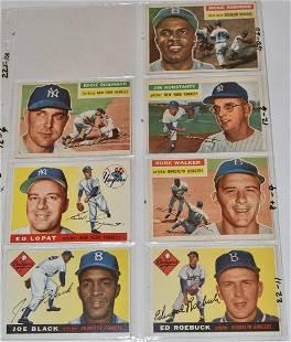 (7) 1955/56 TOPPS BASEBALL CARDS INCL. JACKIE ROBINSON