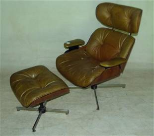 (2) NORTHFIELD METAL PRODUCTS EAMES STYLE LOUNGE CHAIR