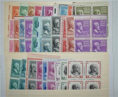 COMPLETE BLOCK OF 4 SET PRESIDENTIAL SERIES STAMPS