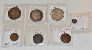 LOT (7) US COINS INCL. 1888-O HOT LIPS VARIETY, 1882-O