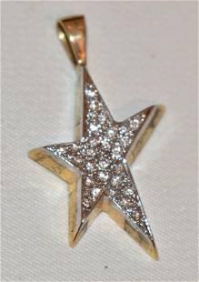 CARTIER 18KT YELLOW/WHITE GOLD & DIAMOND STAR PENDANT