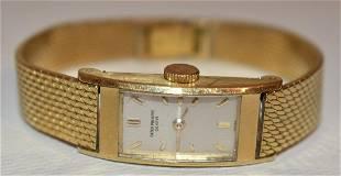FINE ART DECO PATEK PHILIPPE 18KT YW GOLD LADIES WATCH