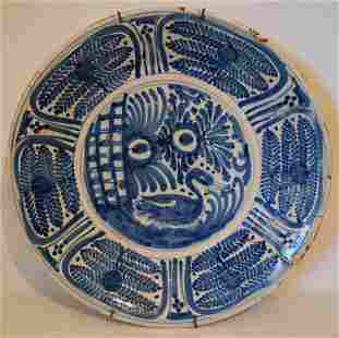 ITALIAN FAIENCE CHARGER, 16TH C.