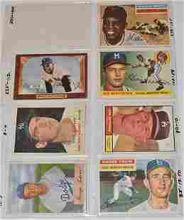 LOT (7) 1955/61 TOPPS BASEBALL CARDS INCL. WILLIE MAYS