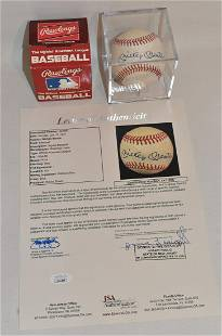 EXCEPTIONAL MICKEY MANTLE A.L. AUTOGRAPHED BASEBALL