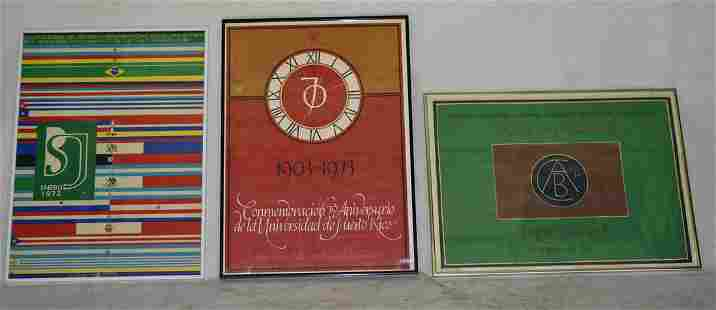 3 PRINTS/POSTERS 70TH ANNIV./1972 INST./1971 POSTERS