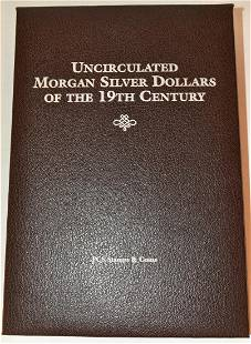 COIN BINDER-UNC. MORGAN SILVER DOLLARS OF THE 19TH C.