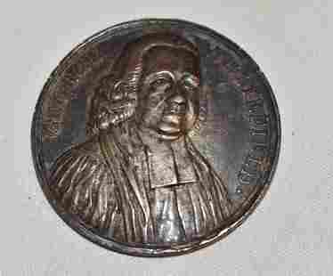 RARE REV. GEORGE WHITEFIELD SILVER COMMEMORATIVE MEDAL