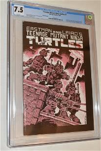TEENAGE MUTANT NINJA TURTLES #1 COMIC GRADED 7.5