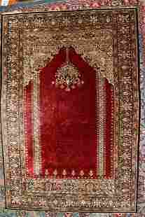 ANTIQUE TURKISH KEYSERIE PRAYER RUG, C. 1910/20