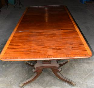 EXCEPTIONAL REGENCY PERIOD INLAID DINING ROOM TABLE