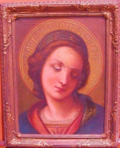 O/C Old Master Madonna Portrait 19/20th c.