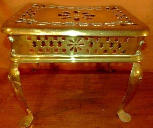 Chippendale Brass Reticulated Footman 19th c.