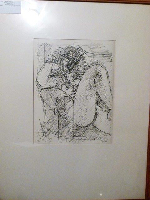 Marcel Gromaire (1892-1971) Pen & Ink  Etude' de' nu