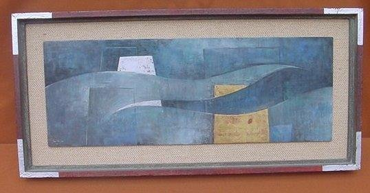 Acrylic on Panel Signed Robinson Cassut 1945