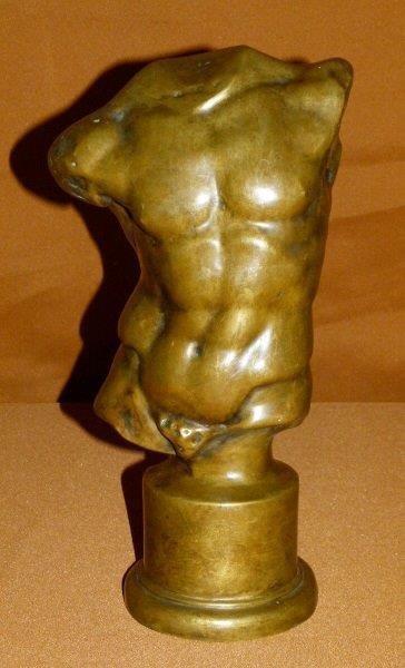 Grand Tour Roman Bronze Torso 19th c.