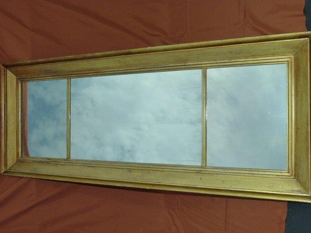 Classical Empire Gold Leaf Over Mantel Mirror