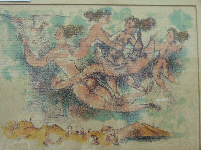 Chaim Gross(American, 1904-1991) ltd ed.lithograph
