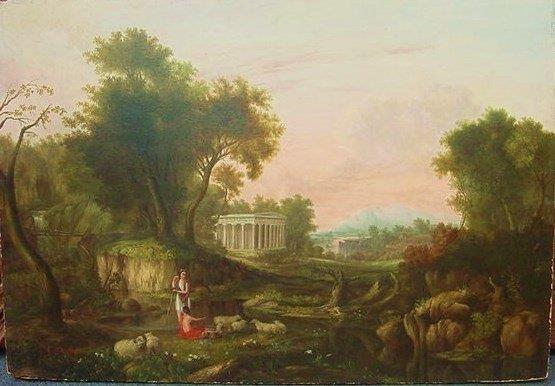Atr. Thomas Cole(American, 1801-1848) oil on wood panel