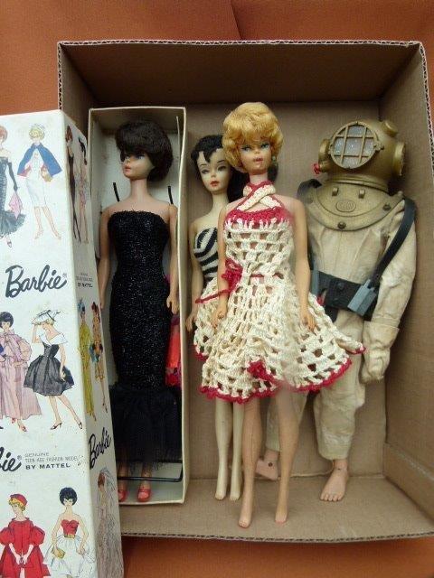 Lot 4 Vintage Barbie & G I Joe Dolls c.1960/69