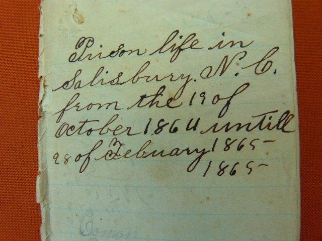 (2) Civil War Prison Diary's Salisbury NC 1864 - 65
