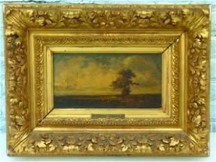"""O/C Landscape w/ Figures Signed Victor Dupre c.1843 7"""""""