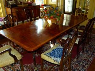 """American Federal 3 Part Table c.1820 W 47"""" L 108"""""""