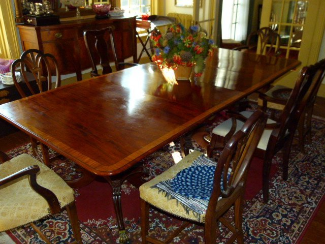 "American Federal 3 Part Table c.1820  W 47"" L 108"""