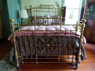 Victorian Brass Extra Fancy Bed (Full Size) c.1880