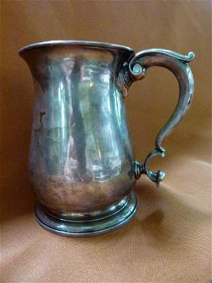 London Sterling Coin Mounted Tankard c.1707 14.2 oz.