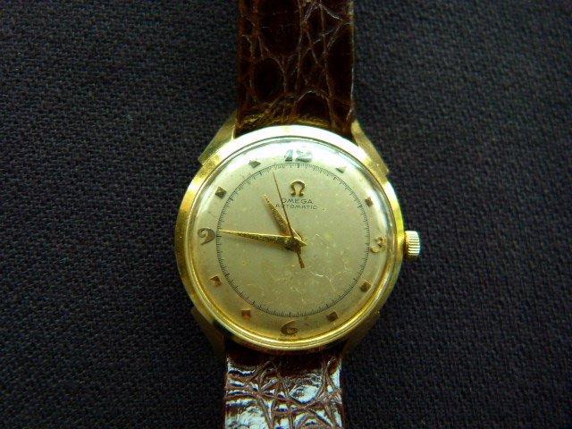 Omega 14k Yellow Gold Automatic Wristwatch c.1950