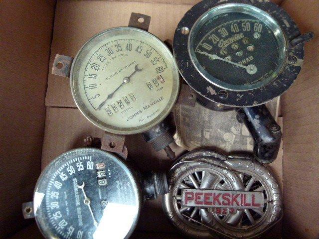 Lot Assorted Speedometers incl. Jones Manville Overland