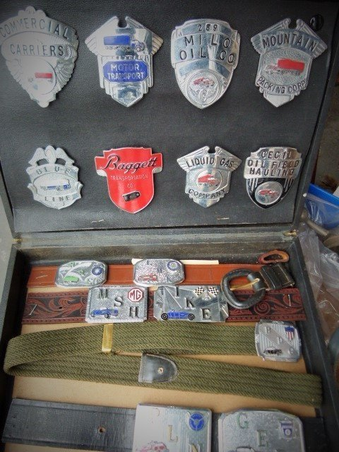 Salesman Motor Transport Enamel Buckles/ Badges c.1950