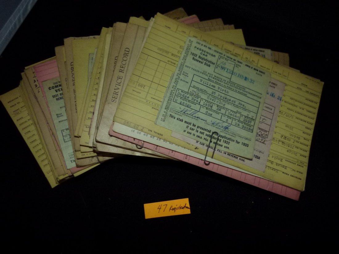 Lot Assorted Vintage Auto Registrations c.1920/30