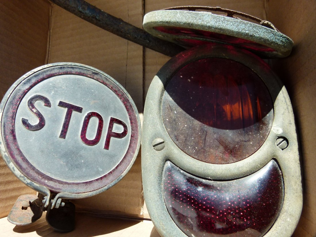 """Lot 3 Dodge Brothers """"STOP""""  Tail Lights 1920/30"""