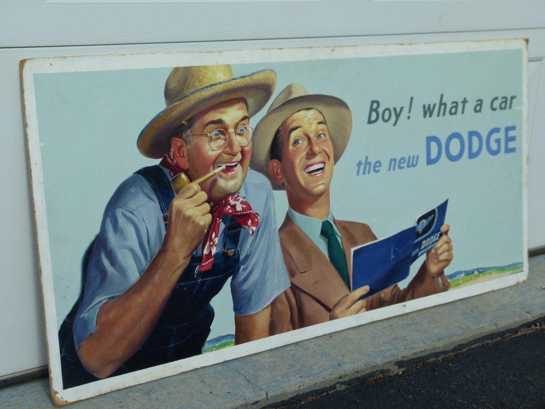 Orig. Acrylic on Board Dodge Bro's Advertising c1940/50