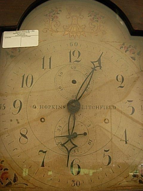 Tall Case Clock by O.(Orange) Hopkins Litchfield CT - 3