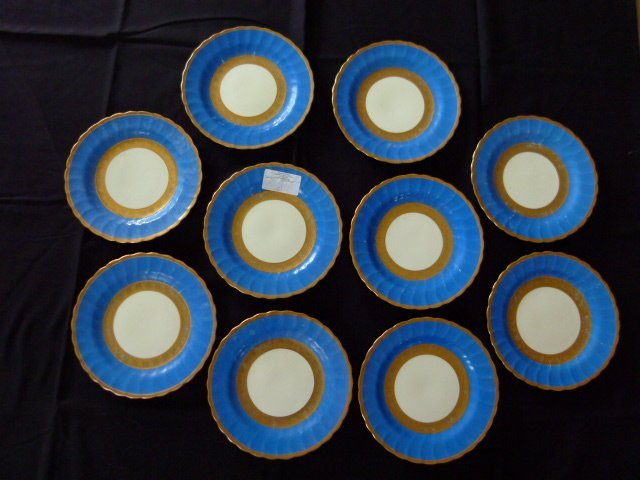 "Lot (10) Fancy Crown Sunderland Show Plates 10"" c.1890"
