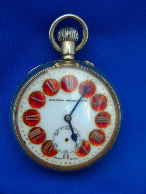 Antique Swiss Pocket Watch German Silver Case 19th c.