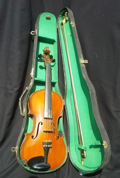 Lyon & Healy 4/0 Tiger Maple Violin  Chicago Style 1025