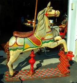 Charles Dare Painted/Carved Carousel Horse 19th c.
