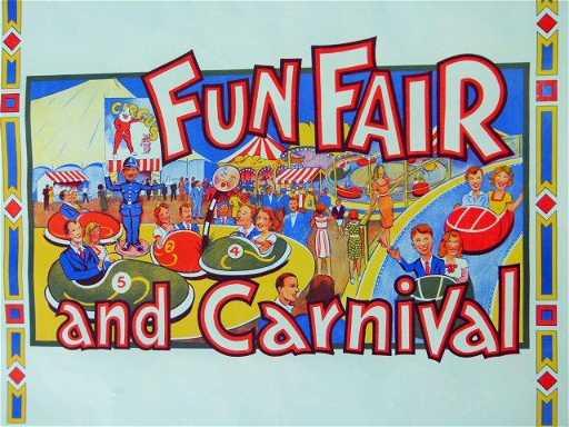 Lot 3 Vintage Carnival Posters C 1940 50