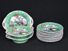 LOT (15) IRONSTONE FRUIT DECORATED SHOW PLATES 19TH C.