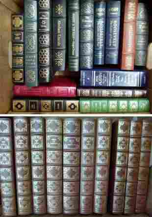 (2) BOXES EASTON PRESS COLLECTORS EDITION LEATHER BOUND