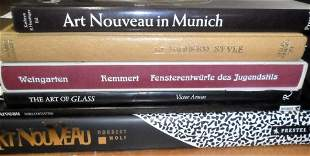 LOT (6) VOLUMES ART NOUVEAU INCL. THE ART OF GLASS, ART