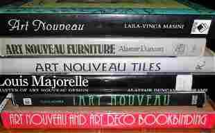 LOT (6) VOLUMES ART NOUVEAU INCL. AN TILES, LOUIS