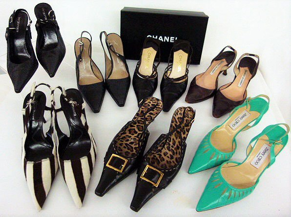 7 PR VINTAGE DESIGNER SHOES INCL. CHANEL, BLAHNIK,