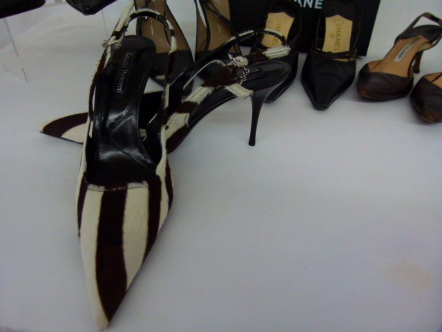 7 PR VINTAGE DESIGNER SHOES INCL. CHANEL, BLAHNIK, - 4