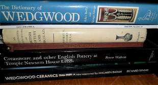 LOT (6) VOLUMES ENGLISH POTTERY INCL. WEDGWOOD,